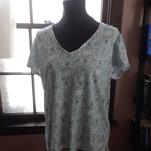 4/$15 Size 2X George floral short sleeve t-shirt